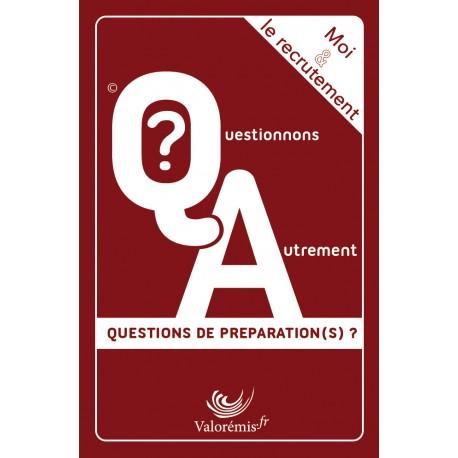"""Jeu de cartes  """" Moi & Le recrutement : Questions de préparation(s) ?"""""""