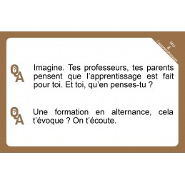 "Jeu de cartes  "" Moi & L'Apprentissage : Questions d'(auto) censure ?"""