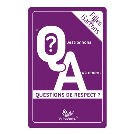 """Jeu de cartes  """" Filles & Garçons : Questions de respect ?"""""""